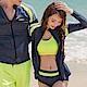 AH-dream夢想女孩-四件式-螢光-衝浪衣泳裝