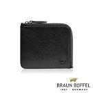 BRAUN BUFFEL - 提洛斯R系列6卡L型拉鍊零錢包 - 時尚黑