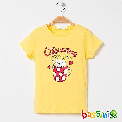 bossini女童-印花短袖T恤09淺黃