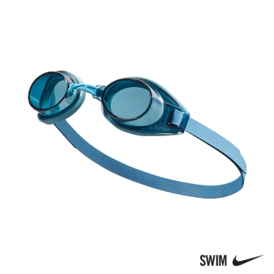 NIKE 成人 泳鏡 休閒型 SOFT-SEAL 冰川藍 TFSS0555-465 (男女泳鏡)