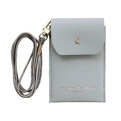 ICONIC 職人頸掛證件票卡夾(附掛帶)-鐵灰藍