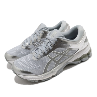 Asics 慢跑鞋 Gel Kayano 26 運動休閒 女鞋 亞瑟士 白金版 緩震 回彈 亞瑟膠 灰 銀 1012A645020