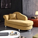 MUNA 卡爾奧黃色貴妃椅(共兩方向) 183X83X90cm