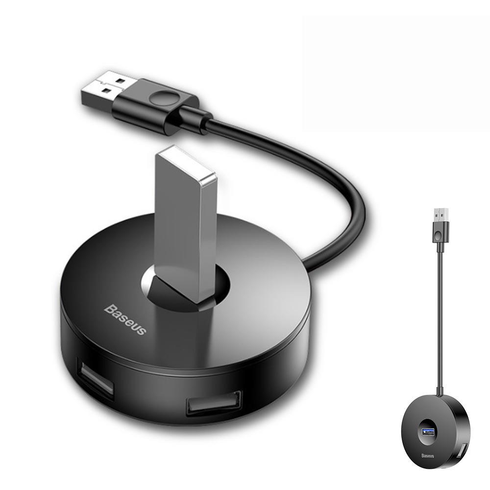 倍思 小圓盒四合一HUB智能轉換器 USB擴充器 4埠集線器 USB3.0