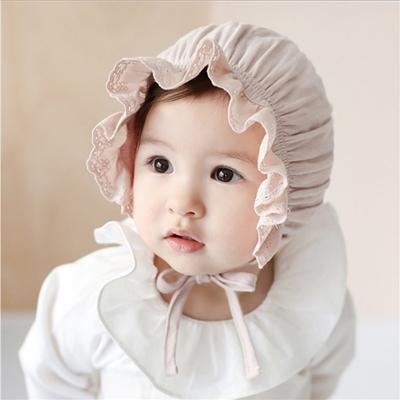 Baby童衣 寶寶花邊帽 純棉宮廷帽 新生兒帽子 88764