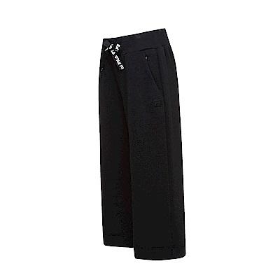 FILA #漢城企劃 女款七分寬褲-黑 5PNT-1425-BK