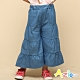 Azio 女童 褲裙 四層接片下擺波浪造型牛仔褲裙(藍) product thumbnail 1