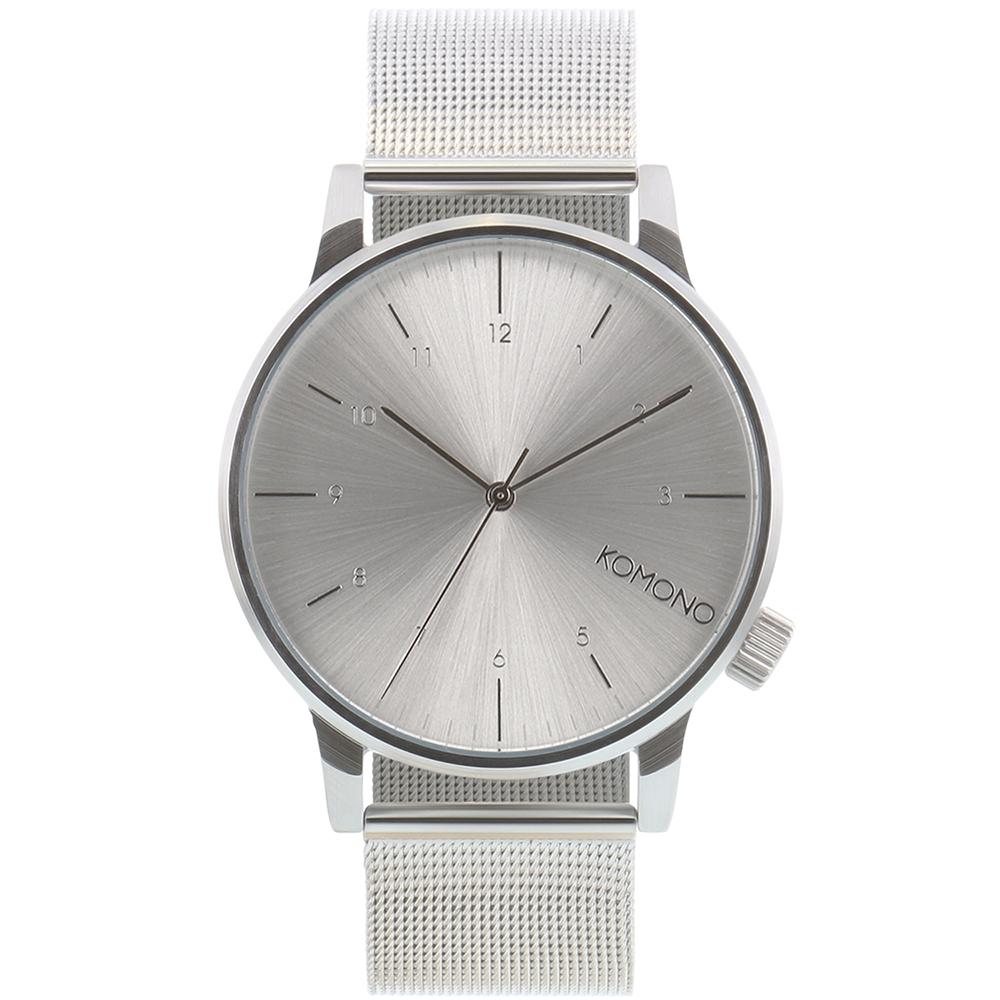 KOMONO Winston Royale 腕錶-太空銀/41mm