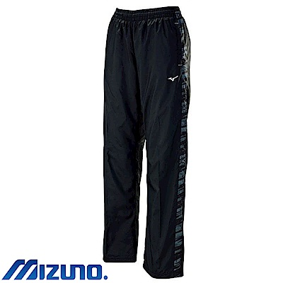 MIZUNO 美津濃 女風衣套裝褲子 黑X黑紋 32TF778299