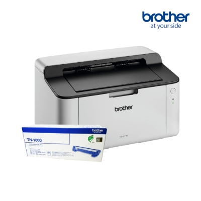 【優惠組】Brother HL-1110 黑白雷射印表機+TN-1000原廠1支