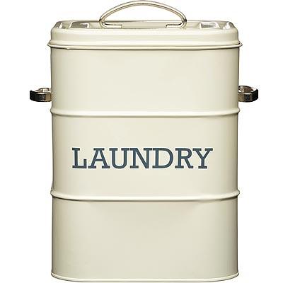 《KitchenCraft》復古洗衣粉收納罐(奶油黃)