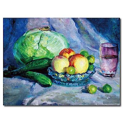 橙品油畫布-單聯式橫幅 掛畫無框畫-蔬菜收成-40x30cm