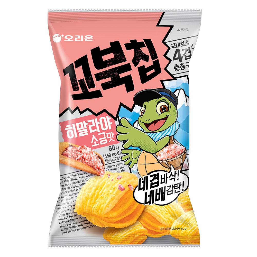 好麗友 烏龜玉米脆片-玫瑰鹽風味(80g)