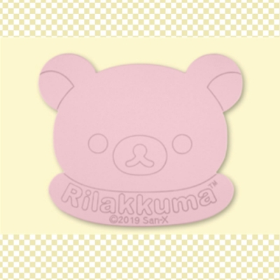 日本進口 日版 拉拉熊 懶懶熊 珪藻土 矽藻吸水墊 粉紅色