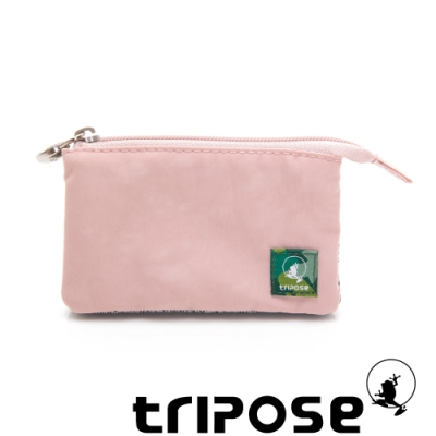 tripose 漫遊系列岩紋簡約微旅萬用零錢包 玫瑰粉