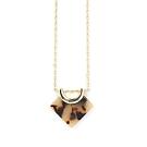 【福利品】LOVERS TEMPO加拿大品牌 琥珀紋天秤吊墜 金色項鍊
