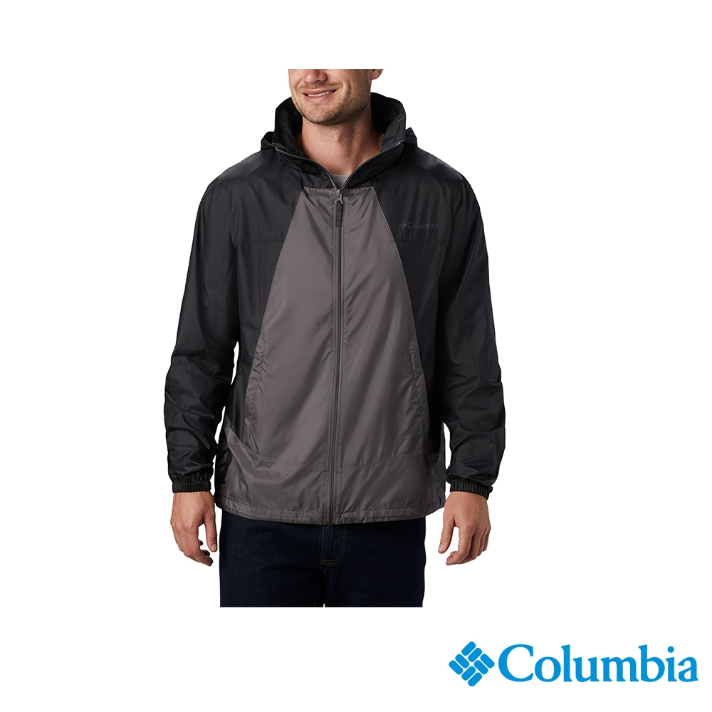 Columbia 哥倫比亞 男款 - UPF40防潑水風衣-2色  活動款  UKE00850 (深灰)