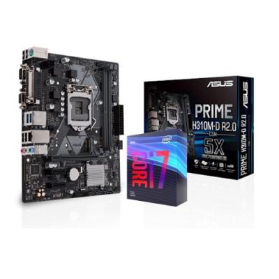 (無卡12期)華碩PRIME H310M-D R2.0/CSM + i7-9700F 組合