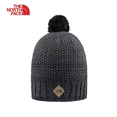 The North Face北面男女款黑色休閒毛帽|3FIBKU6