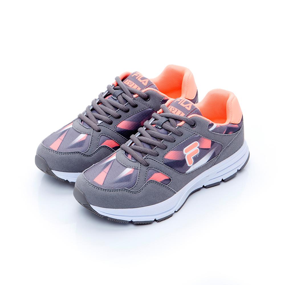 FILA 女款慢跑鞋-灰 5-J201T-461