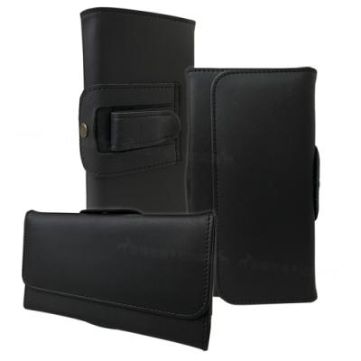品味紳型 iPhone/HTC/ASUS/OPPO/三星/SONY 5.5吋~6.5吋 皮紋隱形磁扣手機腰包皮套