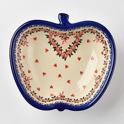【波蘭陶 Vena】波蘭陶 六月新娘系列 蘋果造型烤盤 波蘭手工製