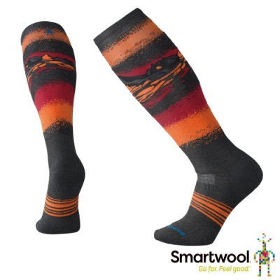SmartWool PhD Slopestyle雪地中級減震高筒襪 炭黑色