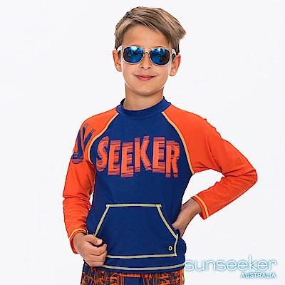 澳洲Sunseeker泳裝抗UV防曬長袖泳衣-大男童橘