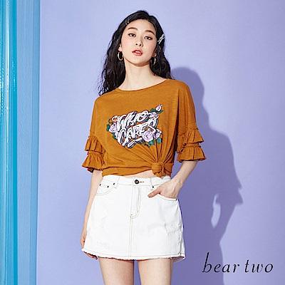 beartwo WHOCARE搖滾玫瑰T恤上衣(二色)