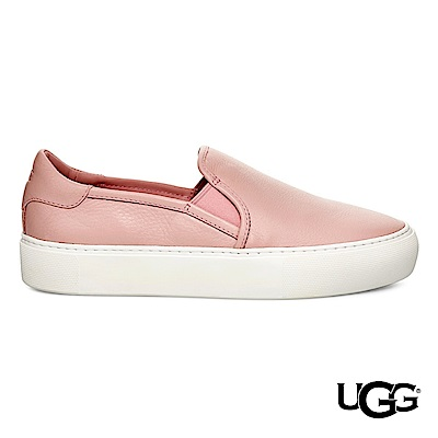 UGG休閒鞋 Jass牛皮懶人鞋 舒適休閒便鞋-粉紅色