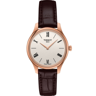 TISSOT T-TRADITION 蟬翼超薄女錶(T0632093603800)/31mm