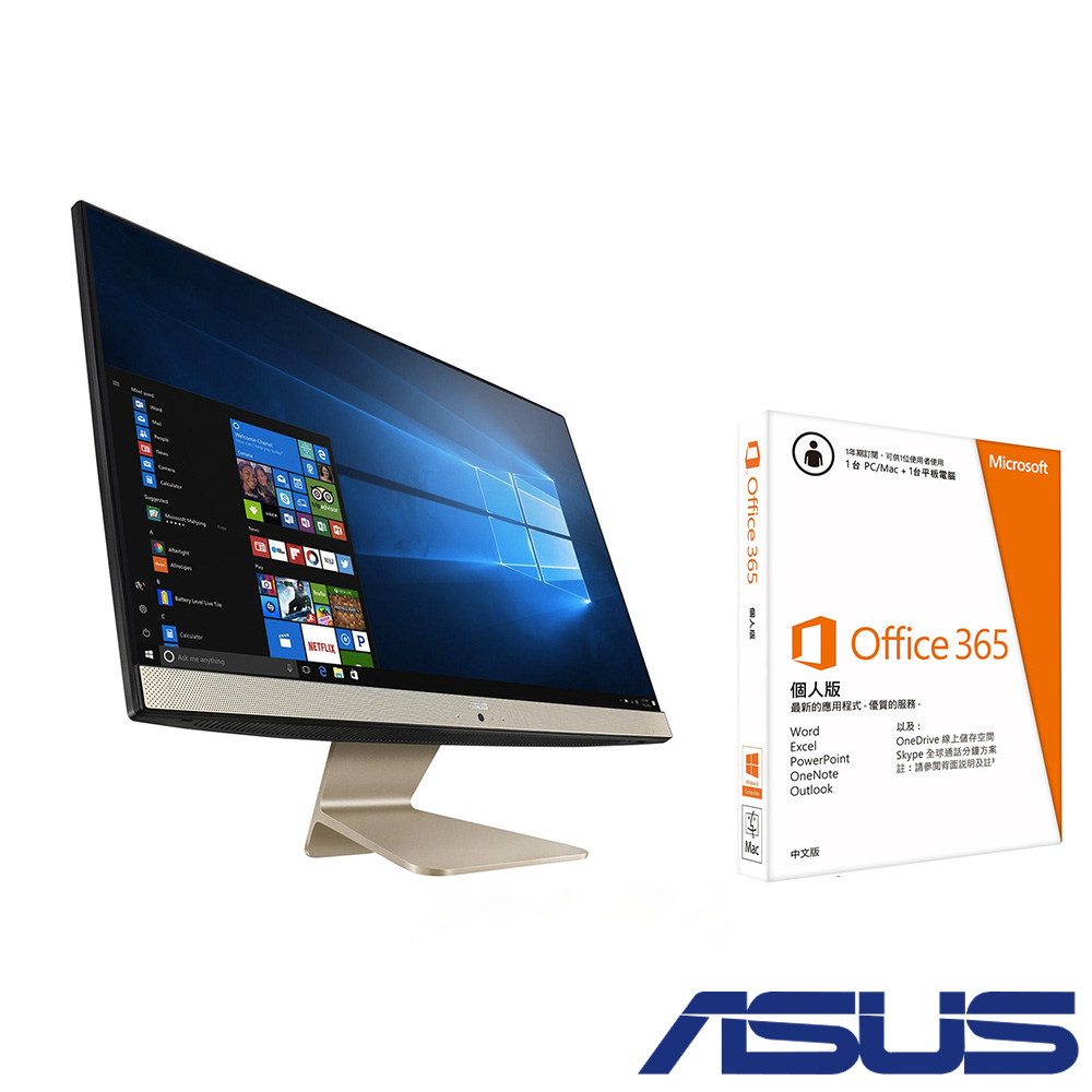 ASUS V222 22型+office 365組合 J4005/4G/1TB/Win10
