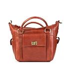 CALTAN-折式輕巧兩用手提斜背包-魅力紅