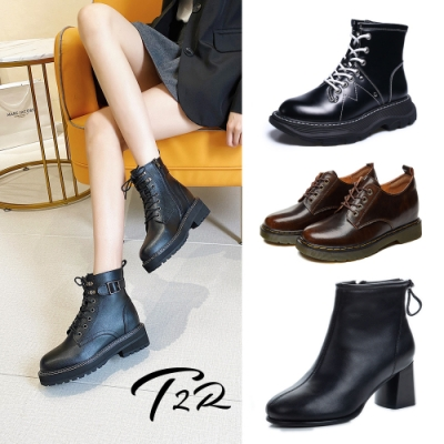 [靴款出清最低價]-T2R-正韓空運-真皮隱形增高靴-增高4-8公分-多款