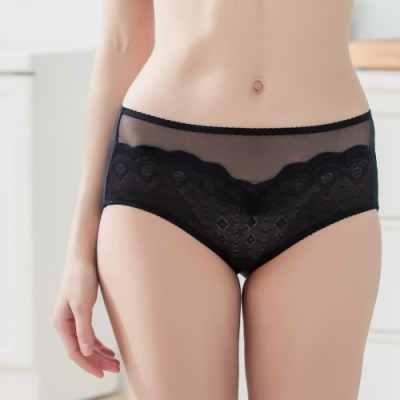 潘朵拉神秘戀人-蕾絲透膚內褲 702950(兩色)