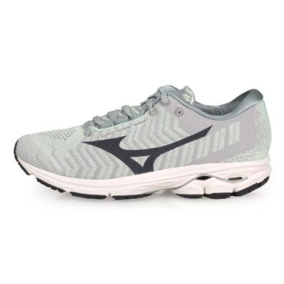 MIZUNO 男慢跑鞋 RIDER WAVEKNIT 3 淺綠灰黑