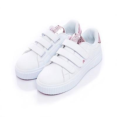 FILA #BOLD SHINY 女潮流復古鞋-靚銫粉5-C601S-510