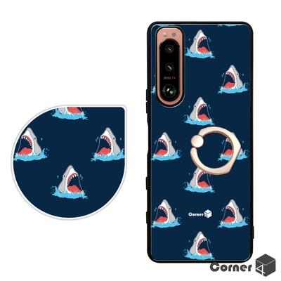 Corner4 Sony Xperia 5 Ⅲ減震指環手機殼-十面埋鯊