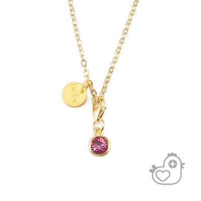 【彩糖鑽工坊】彩糖貝貝 粉紅水晶項鍊 親子 閨蜜 彩糖貝貝繽紛寶石系列