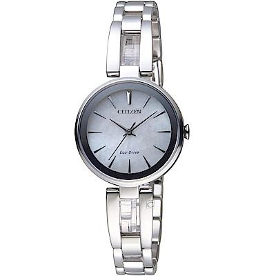 CITIZEN星辰現代風格光動能腕錶(EM0631-83D)銀