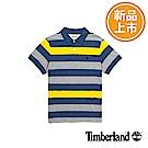 Timberland 男款黃藍條紋針織短袖POLO衫