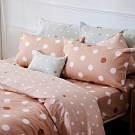 戀家小舖 / 雙人加大床包兩用被組  點點小宇宙-火星土  100%精梳棉  台灣製