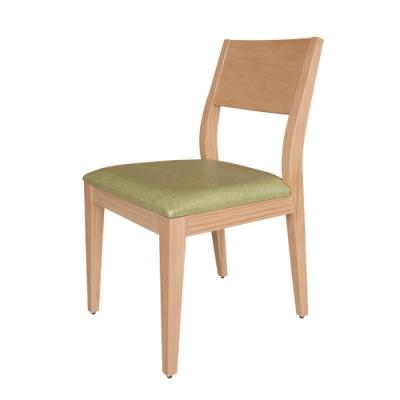 Boden-喬妮原木色皮面實木餐椅/單椅(兩色可選)