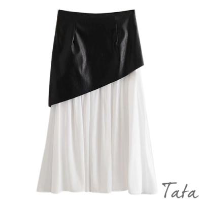 拉鍊雙層半身裙 TATA-(S/M)