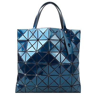 ISSEY MIYAKE 三宅一生BAOBAO 金屬亮面方格6x6手提包(藍)