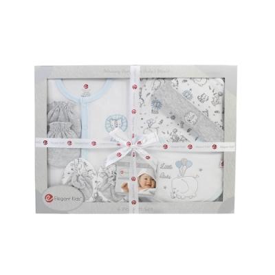 美國Elegant kids-藍色動物園6件式彌月禮盒