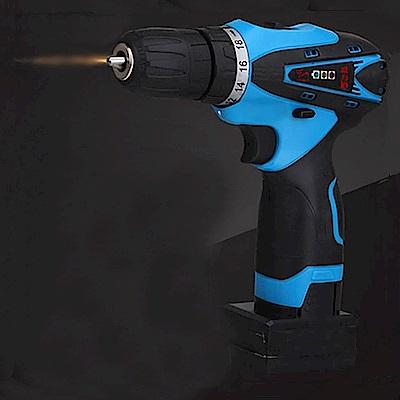 威力鯨車神 25V超強雙速充電式鋰電池電鑽組_37件豪華大全配_加贈打蠟拋光工具組(電鑽)