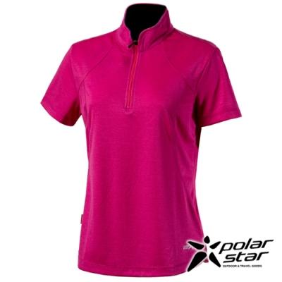 PolarStar 女 Coolmax抗菌立領衣『桃紅』P20122