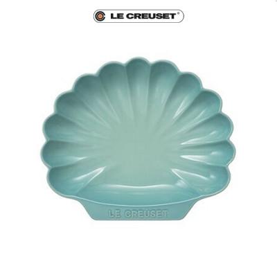 [任4件6折] LE CREUSET 瓷器貝殼盤(中)(薄荷綠)