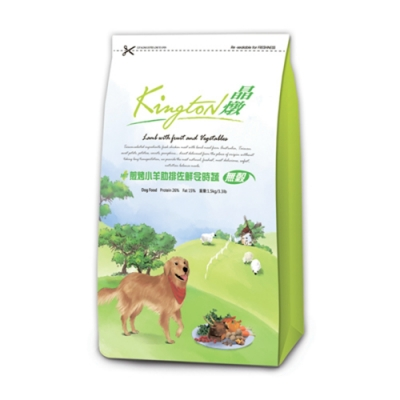 Kingston晶燉無穀狗-26%Protein煎烤小羊肋排佐鮮令食蔬1.5kg